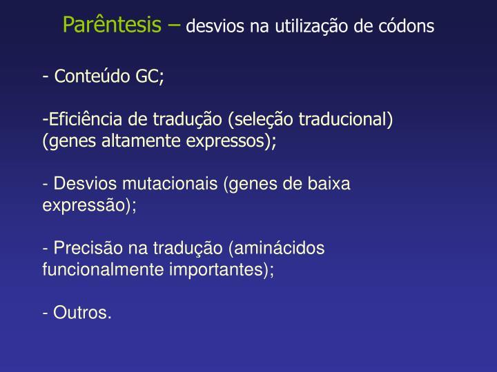 Parêntesis –