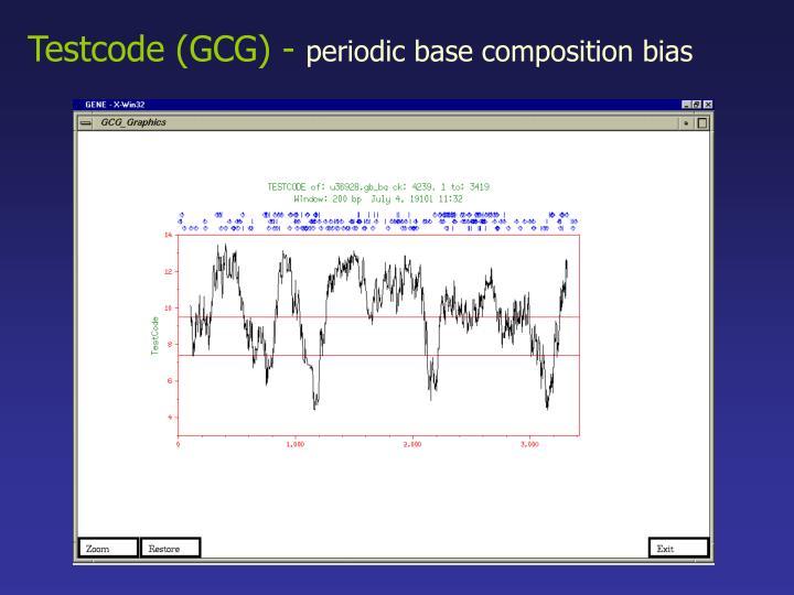 Testcode (GCG) -