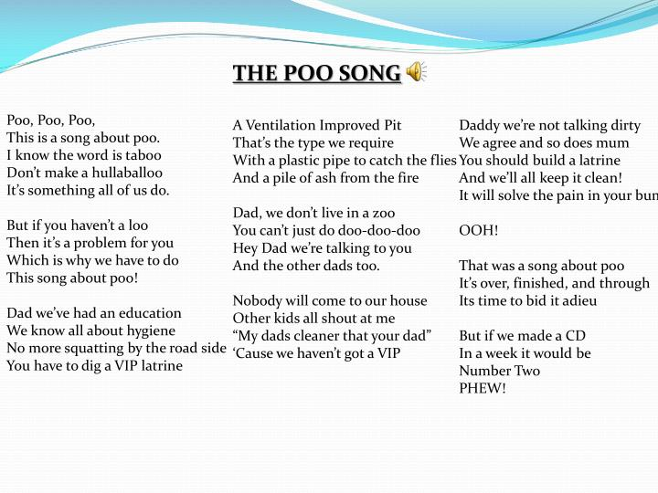 THE POO SONG