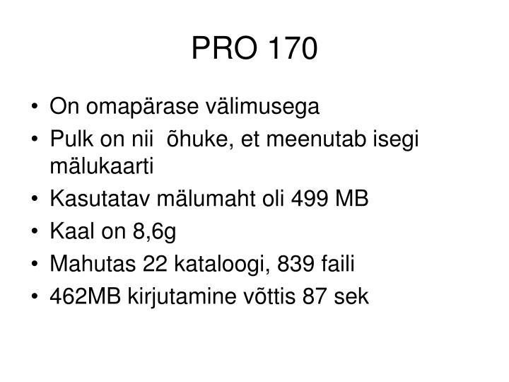 PRO 170