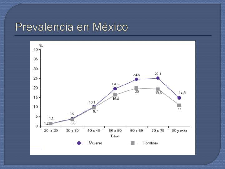 Prevalencia en México