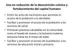 uso en reducci n de la desnutrici n cr nica y fortalecimiento del capital humano
