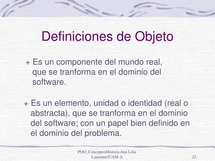 Definiciones de Objeto