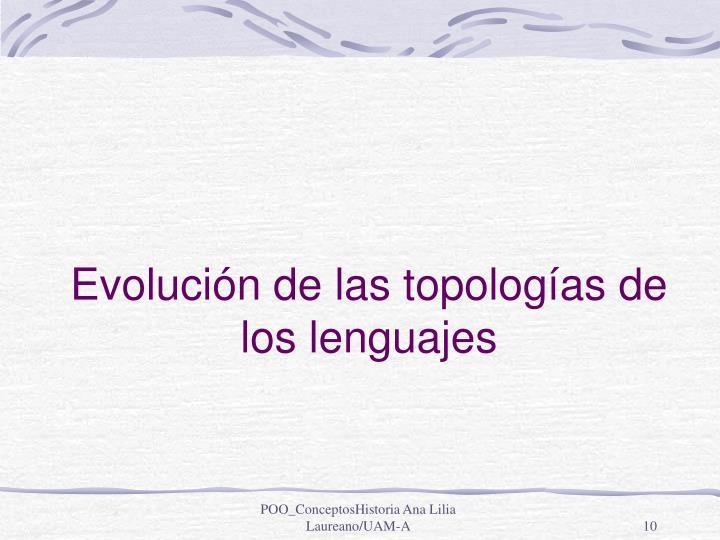 Evolución de las topologías de los lenguajes