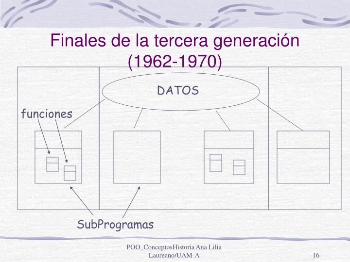 Finales de la tercera generación