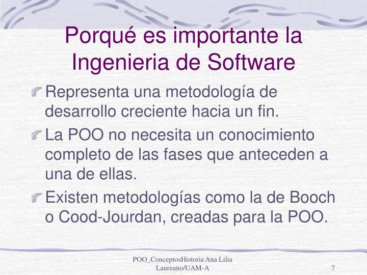 Porqué es importante la Ingenieria de Software