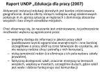 raport undp edukacja dla pracy 2007