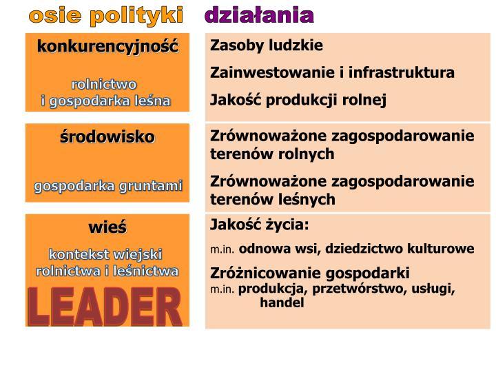 osie polityki