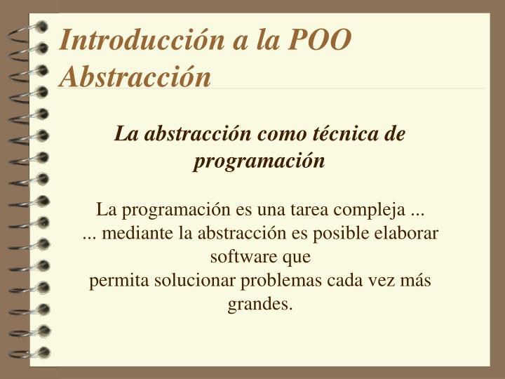Introducción a la POO