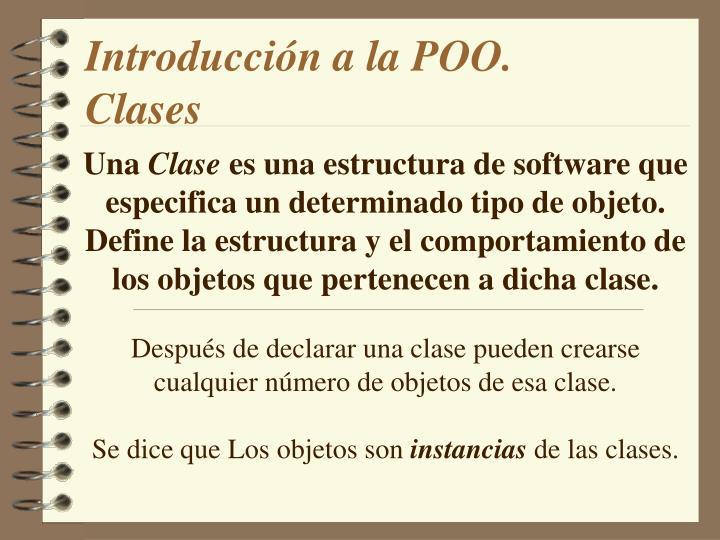Introducción a la POO.