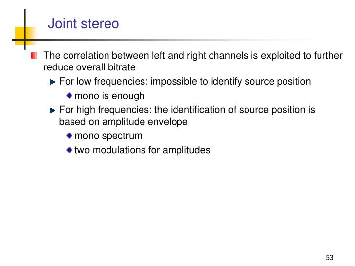 Joint stereo