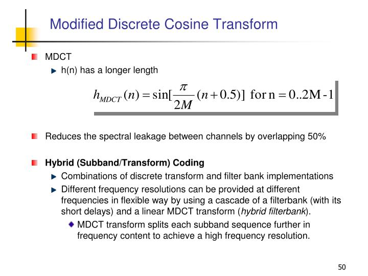 Modified Discrete Cosine Transform