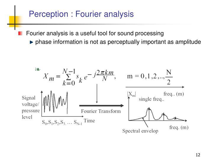 Perception : Fourier analysis