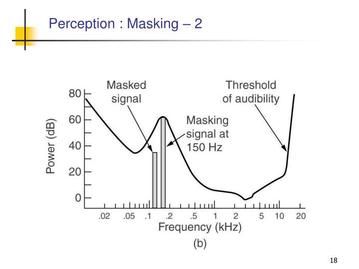 Perception : Masking – 2
