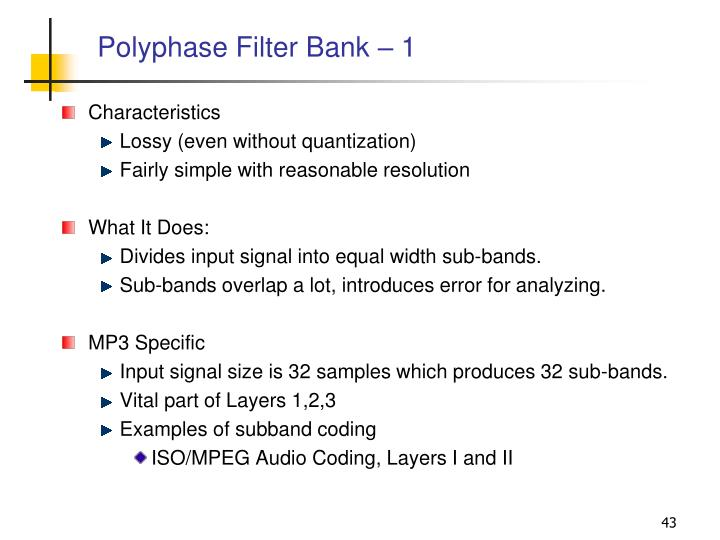 Polyphase Filter Bank – 1