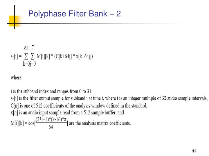 Polyphase Filter Bank – 2