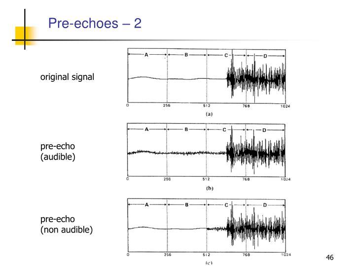 Pre-echoes – 2