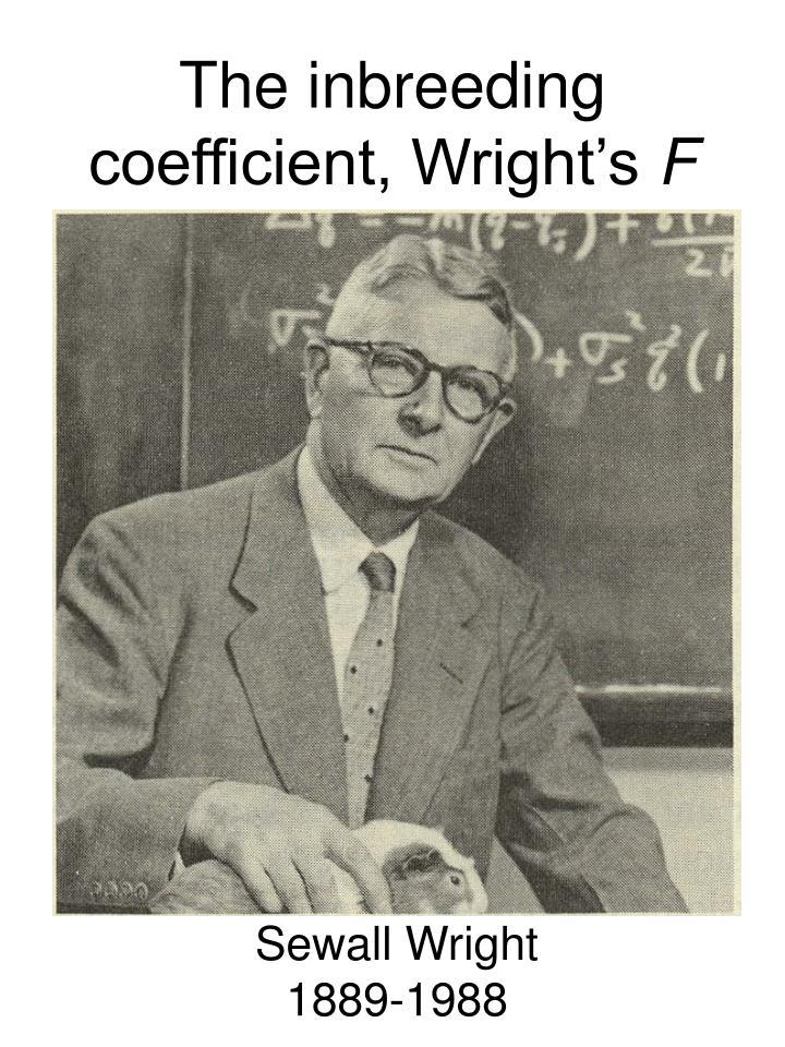 The inbreeding coefficient, Wright's