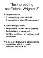 the inbreeding coefficient wright s f1