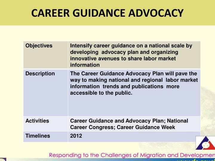 CAREER GUIDANCE ADVOCACY