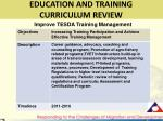 education and training curriculum review2