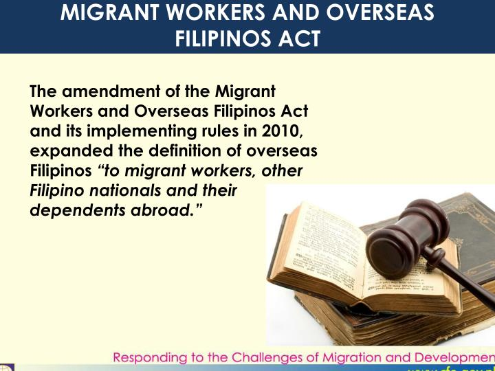 MIGRANT WORKERS AND OVERSEAS