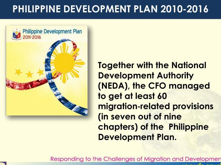 PHILIPPINE DEVELOPMENT PLAN 2010-2016