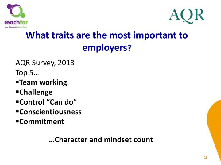 What traits are the most important to employers