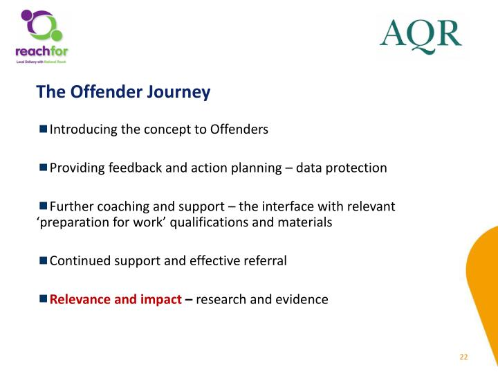 The Offender Journey