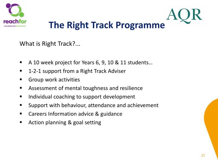 The Right Track Programme