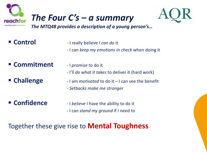 The Four C's – a summary