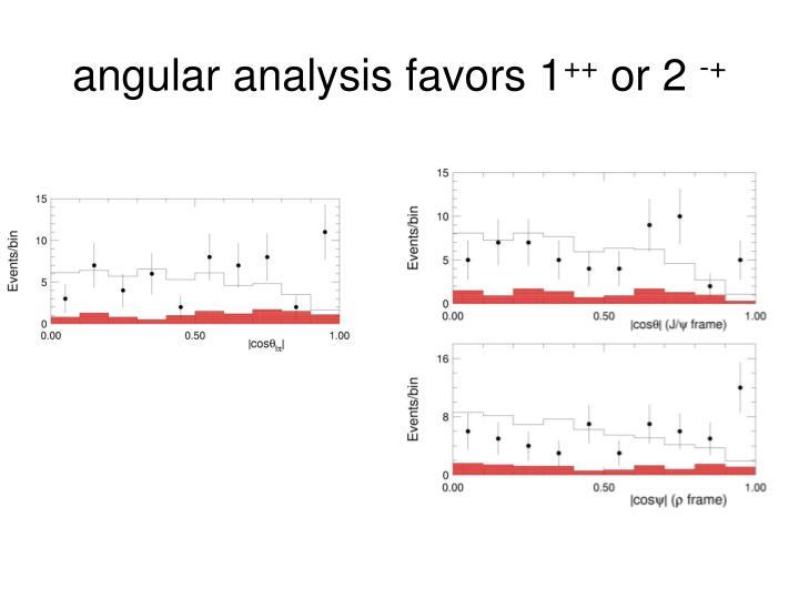 angular analysis favors 1