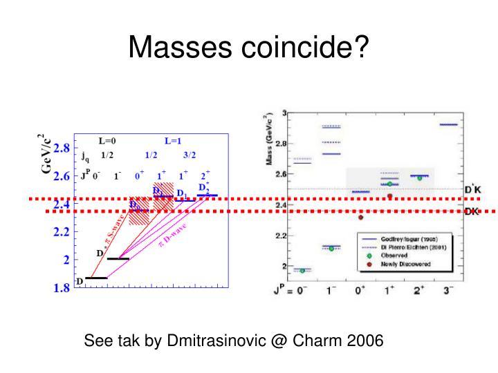 Masses coincide?