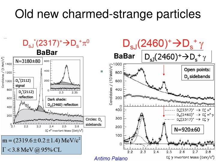 Old new charmed-strange particles