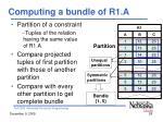 computing a bundle of r1 a