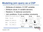modeling join query as a csp