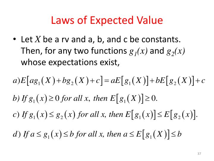 Laws of Expected Value