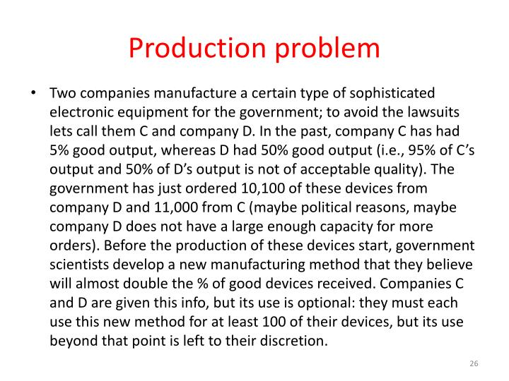 Production problem