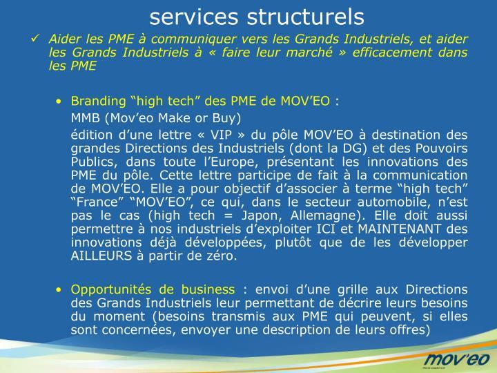 services structurels