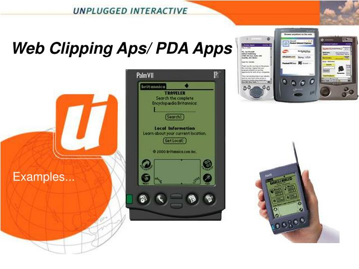 Web Clipping Aps/ PDA Apps