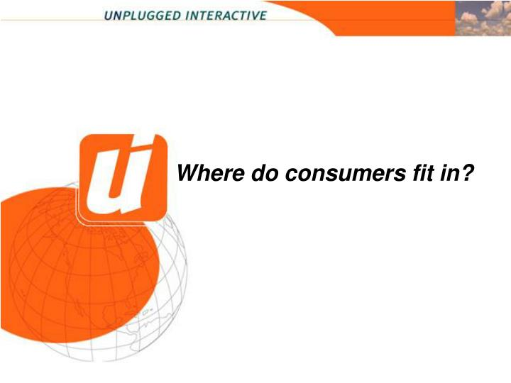 Where do consumers fit in?