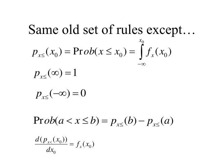 Same old set of rules except…