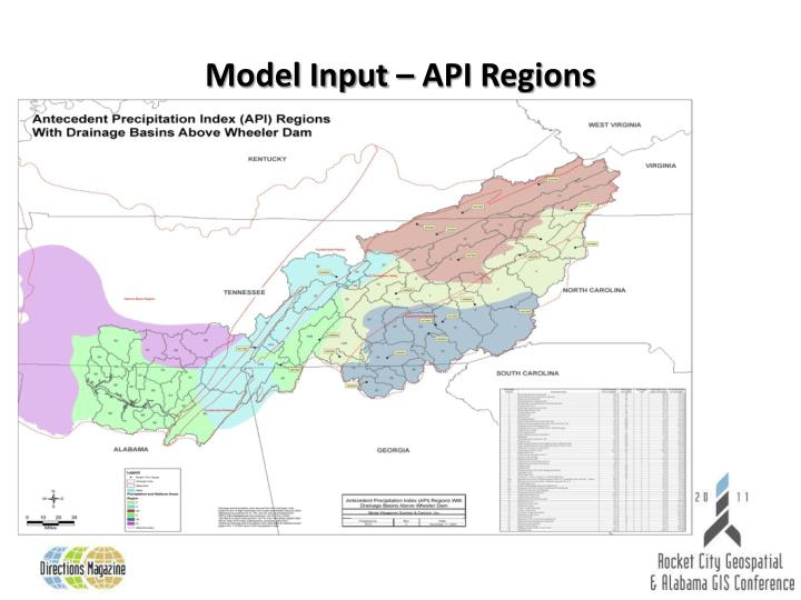 Model Input – API Regions
