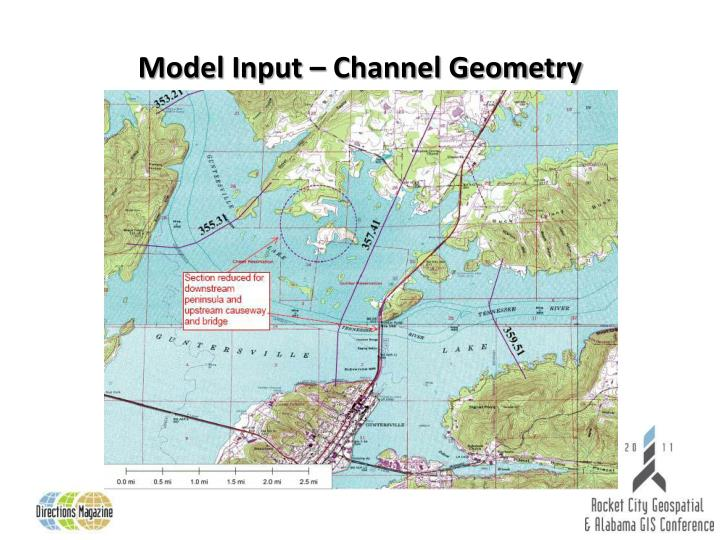 Model Input – Channel Geometry