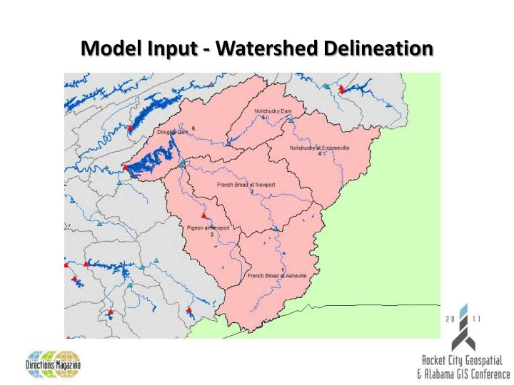 Model Input - Watershed Delineation
