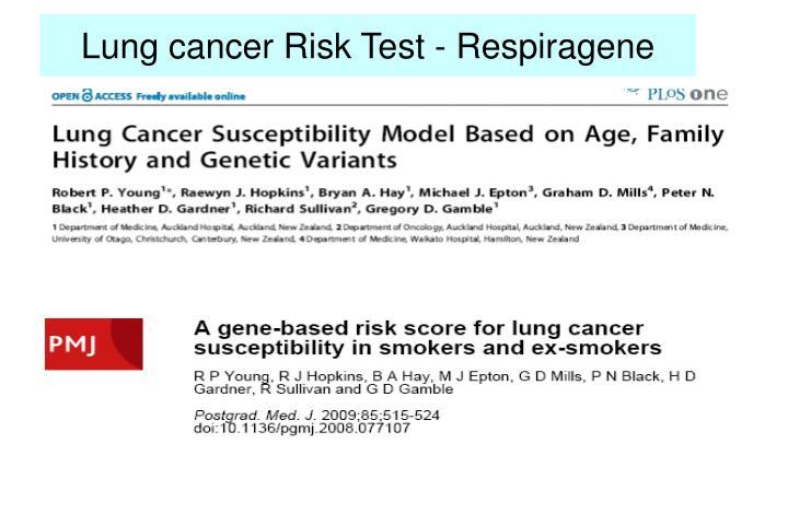 Lung cancer Risk Test - Respiragene