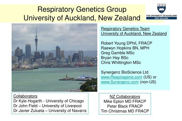 Respiratory Genetics Group