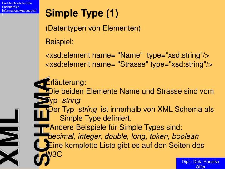 Simple Type (1)