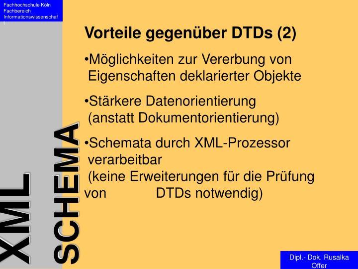 Vorteile gegenüber DTDs (2)