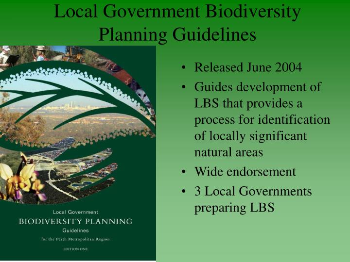 Local Government Biodiversity Planning Guidelines